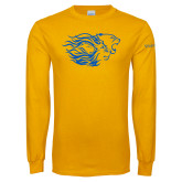 Gold Long Sleeve T Shirt-Widener Pride Mark