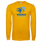 Gold Long Sleeve T Shirt-Widener Athletics