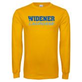 Gold Long Sleeve T Shirt-Lacrosse