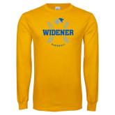 Gold Long Sleeve T Shirt-Baseball Design