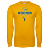 Gold Long Sleeve T Shirt-Lacrosse Design