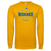 Gold Long Sleeve T Shirt-Softball Design