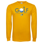 Gold Long Sleeve T Shirt-Golf Design