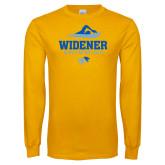 Gold Long Sleeve T Shirt-Swimming Design