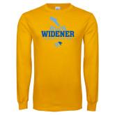 Gold Long Sleeve T Shirt-Cheerleading Design