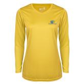 Ladies Syntrel Performance Gold Longsleeve Shirt-Widener Pride