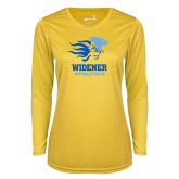 Ladies Syntrel Performance Gold Longsleeve Shirt-Widener Athletics
