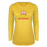 Ladies Syntrel Performance Gold Longsleeve Shirt-PMC Stacked