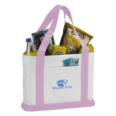 Contender White/Pink Canvas Tote-Widener Pride
