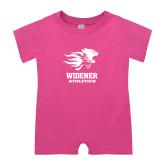 Bubble Gum Pink Infant Romper-Widener Athletics