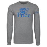 Grey Long Sleeve T Shirt-Pride