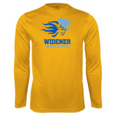 Performance Gold Longsleeve Shirt-Widener Athletics