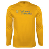 Syntrel Performance Gold Longsleeve Shirt-Primary Mark with Shield