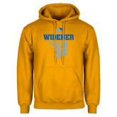 Gold Fleece Hoodie-Basketball Net Design