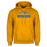 Gold Fleece Hoodie-Football Design
