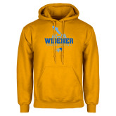 Gold Fleece Hoodie-Cheerleading Design