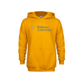 Youth Gold Fleece Hoodie-Primary Mark with Shield