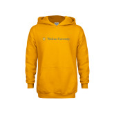 Youth Gold Fleece Hoodie-Primary Mark with Shield Flat