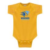Gold Infant Onesie-Widener Athletics