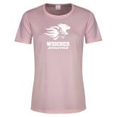 Ladies Performance Light Pink Tee-Widener Athletics