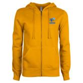 ENZA Ladies Gold Fleece Full Zip Hoodie-Widener Athletics