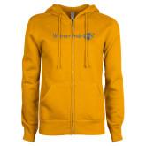 ENZA Ladies Gold Fleece Full Zip Hoodie-Widener Pride Flat