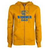 ENZA Ladies Gold Fleece Full Zip Hoodie-Widener Pride Dad