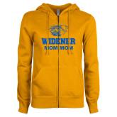 ENZA Ladies Gold Fleece Full Zip Hoodie-Widener Pride Mom Mom