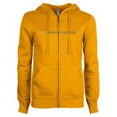 ENZA Ladies Gold Fleece Full Zip Hoodie-Primary Mark with Shield Flat