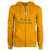 ENZA Ladies Gold Fleece Full Zip Hoodie-Stacked University Mark