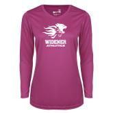 Ladies Syntrel Performance Raspberry Longsleeve Shirt-Widener Athletics