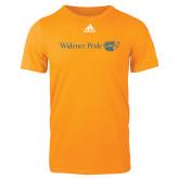 Adidas Gold Logo T Shirt-Widener Pride Flat