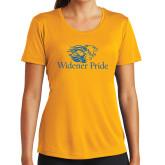 Ladies Syntrel Performance Gold Tee-Widener Pride