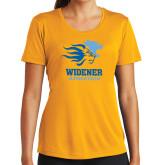 Ladies Syntrel Performance Gold Tee-Widener Athletics