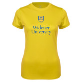 Ladies Syntrel Performance Gold Tee-Stacked University Mark