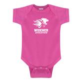 Fuchsia Infant Onesie-Widener Athletics
