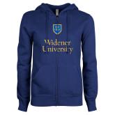 ENZA Ladies Royal Fleece Full Zip Hoodie-Stacked University Mark