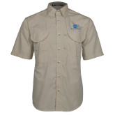 Khaki Short Sleeve Performance Fishing Shirt-Widener Pride