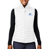 Columbia Lake 22 Ladies White Vest-Widener Pride