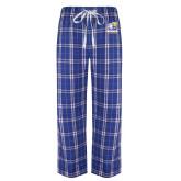 Royal/White Flannel Pajama Pant-Widener Athletics