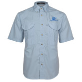Light Blue Short Sleeve Performance Fishing Shirt-Widener Pride