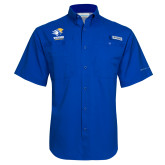 Columbia Tamiami Performance Royal Short Sleeve Shirt-Widener Athletics