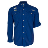 Columbia Bahama II Royal Long Sleeve Shirt-Widener Athletics
