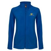 Ladies Fleece Full Zip Royal Jacket-Widener Pride