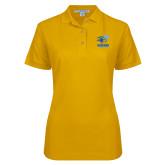 Ladies Easycare Gold Pique Polo-Widener Athletics