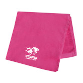 Pink Beach Towel-Widener Athletics
