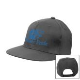 Charcoal Flat Bill Snapback Hat-Widener Pride