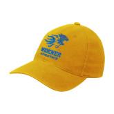 Gold Flexfit Mid Profile Hat-Widener Athletics