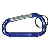 Blue Carabiner with Split Ring-Widener Pride Flat  Engraved