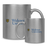 Full Color Silver Metallic Mug 11oz-Primary Mark with Shield